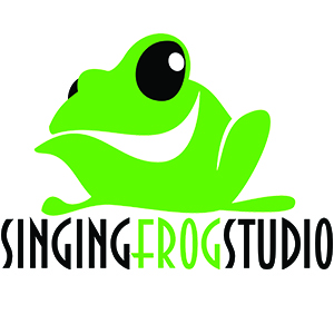Singing frog studio logo